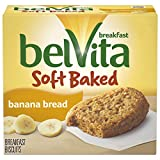 belVita Soft Baked Banana Bread Breakfast Biscuits, 5 Count Box, 8.8 Ounce