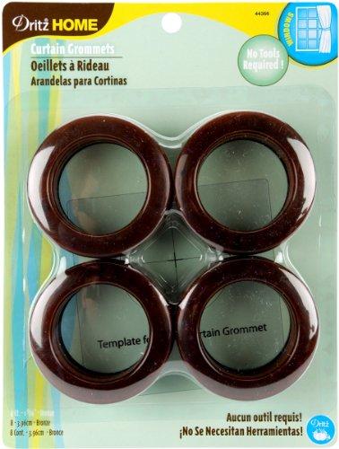 Dritz 203006 Curtain Grommets 1-9/16in Bronze, 8