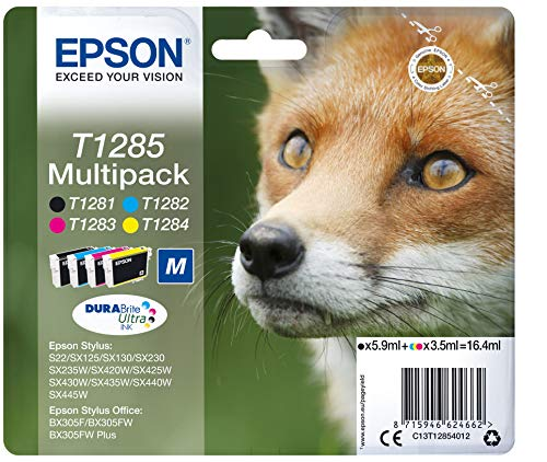Epson C13T12854022 Original Tintenpatronen Pack of 4