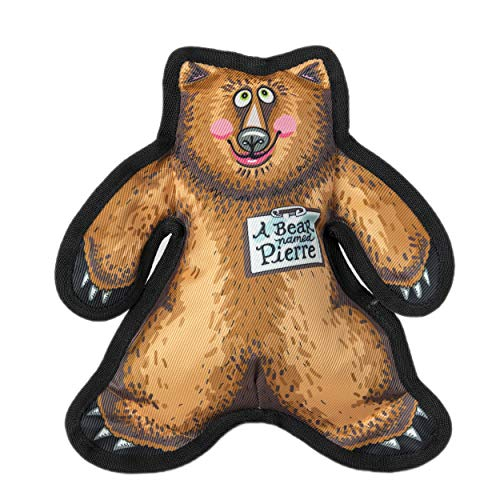 FUZZU Durable Dog Toy with Squeaker - Tough Chew Toy, Wild Woodies - A Bear Named Pierre, Large 12'