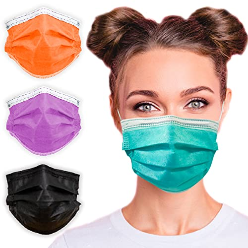 3-Ply Breathable Disposable Face Mask (Mint Green) - Made in USA - Comfortable Elastic Ear Loop | Non-Woven Polypropylene | Block Dust & Air Pollution | For Business and Personal Care (50pcs)