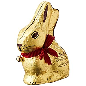 lindt gold bunny milk 200 g (pack of 4) Lindt Gold Bunny Milk Chocolate Novelty Hollow 200g – The Perfect Easter Gift Instead of Easter Eggs 511hucRoe L