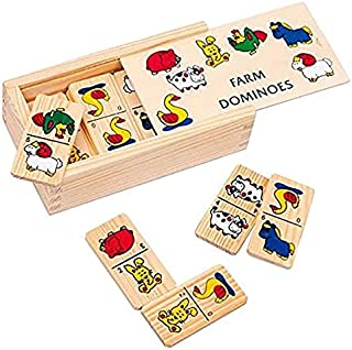 لعبة دومينو خشبية بنمط المزرعة