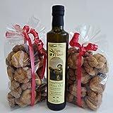 Rosettenkekse und Natives Olivenöl Extra Nocellara - Valle del Belice - Handgemachte Kekse nach der Tradition (2 Packungen Kekse Rosetten + 1 Flasche 500 ml Olivenöl Nocellara...