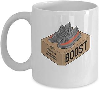 a1c66eb14 Yeezy Boost 350 Coffee Mug Cup (White) 11oz Funny Kanye West Yeezy Boost 350
