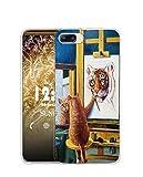 Sunrive Coque pour iPhone 5c, Silicone Étui Housse Protecteur Souple Gel Transparent Back Case(TPU Chat Tigre 1)+ Stylet OFFERTS