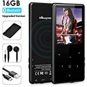 MP3 Music Player Mbuynow HIFI Mp3 Player Bluetooth 4.0 16GB Portable Lossless Sound Digital Audio Player with FM Radio Voice Recorder for Gym Running,can expand up to 128 GB