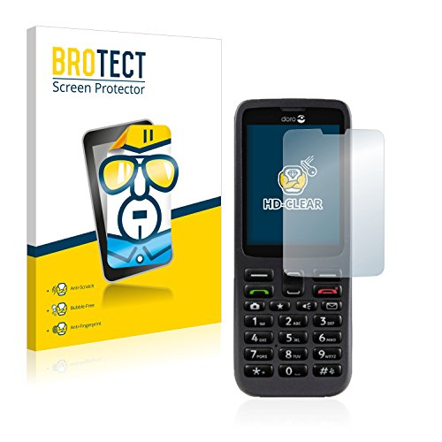 BROTECT Schutzfolie kompatibel mit Doro 5516 (2 Stück) klare Bildschirmschutz-Folie