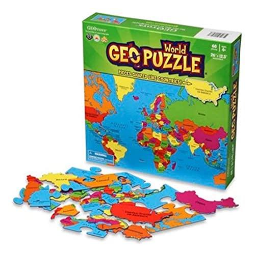 CRAENEN GEOPUZZLE Monde 68 pièces (FR) 660X315 (Puzzle - Divers)