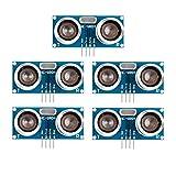 5PCS HC-SR04 Sensor de distancia de módulo ultrasónico para Raspberry Pi, Arduino UNO, MEGA2560, Robot (azul)