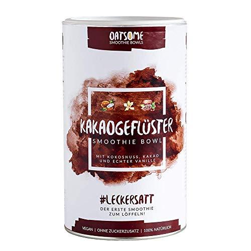 Kakaogeflüster - Nährstoff Frühstück mit 100% natürlichen Zutaten und Superfoods wie Maca oder Kakao Nibs - Lange satt mit nur 200kcal - Mahlzeitenersatz ohne Zusatzstoffe und raffinierten Zucker