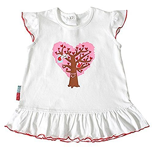 Bright Bots Heart Swing Top Tunique - Blanc -