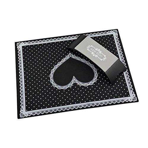 Frcolor Tappetino manicure e cuscino poggiamano in silicone per nail art Strumenti per manicure Nail salone di bellezza attrezzature Tapettino+Cuscino (nero)