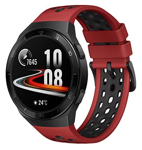 HUAWEI Watch GT 2e Smartwatch (46mm AMOLED Touchscreen, SpO2-Monitoring,Herzfrequenz-Messung,Musik Wiedergabe,GPS,Fitness Tracker,5ATM wasserdicht) Lava Red[Exklusiv+5 EUR Gutschein]