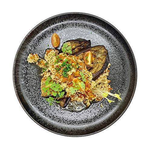 Season Family Fertiggericht Aubergine Vegan mit Tomatensalsa und Quinoa als Fitness Essen I Fertiggerichte für Mikrowelle oder Pfanne unter Schutzgasatmosphäre verpackt I Inhalt 450 g