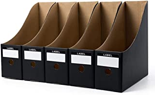 Documents Holder Files, 5 Pieces/Set Foldable Paper Organizer Office Desk Pen Magazine Rack Simple Documentation Storage B...