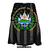 El Salvador Seal USA Flag Professional Barber Supplies Tool Barber Cape Cover Cloak Dyed Hair Waterproof Cloth Anti-Static Hairdressing Haircut Apron Hair Dressing Gown Cape 140x168cm