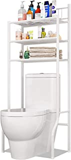 métal étagère de Machine à Laver 3 Niveaux, Salle de Bain Dessus Toilettes WC Tablette de Rangement, sécheuse Organisateur...