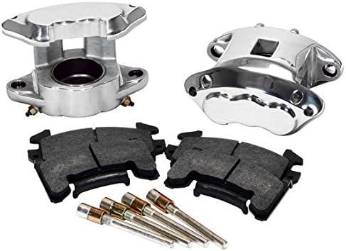 "NEW D154 BRAKE CALIPER /& PAD SET W//PINS,FRONT,1 PISTON,1.04/"",GM METRIC,CAST IRON"