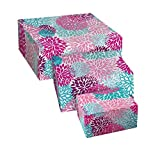 Snap-N-Store Storage Box 3-Piece Set, Small/Medium/Large, Colorful Mums (SNS03326)