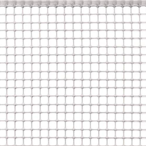 Ferramenta Beltrami Rete per balconi, Rete in plastica per balconi e recinzioni.Rete Rinforzata sui Lati Lunghi. Altezza Rotolo 1 mt Lunghezza 10 Metri (Bianco)