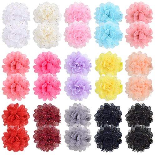 30 Stück Haarspangen mit Blumen und Schleifen, für Neugeborene, Kleinkinder, Schulmädchen.