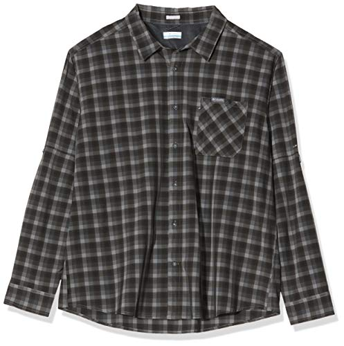 Columbia Triple Canyon, Camicia a maniche lunghe, Uomo, Grigio (Columbia Grey Mini Tonal Plaid), XXL, Art. 1883324
