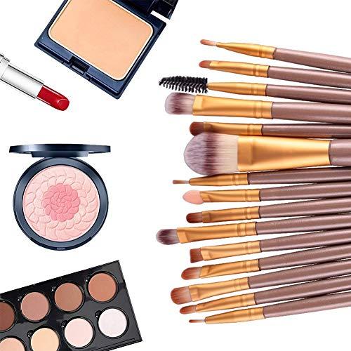20PCS CosméTique Set De Pinceaux De Maquillage Professionnel Pinceau MéLangeur Poudre De Fondation Pinceau Fard à PaupièRes Pinceau à LèVres Outils De Soins De Beauté (Café)