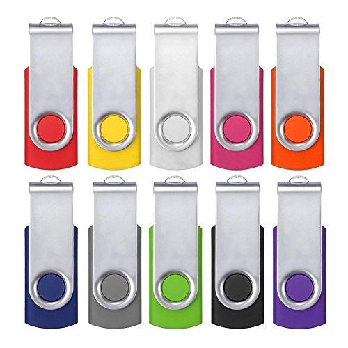 Gaoominy 10 unidades de memoria flash USB 2.0 de 64 MB de memoria USB