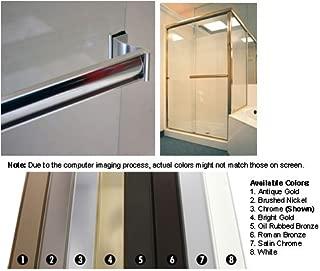 Chrome Sliding Frameless Shower Door Single Towel Bar Kit - 30