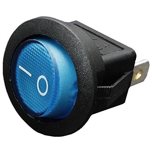 Cikuso 12V 16A LED Interruptor basculante Bipolar ON/Off SPST para Auto Moto Barco - Azul