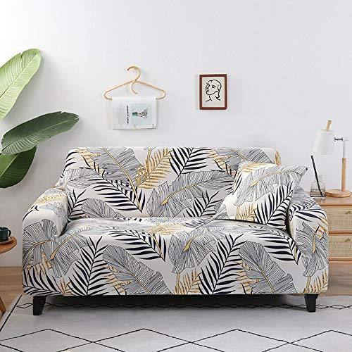 WXQY Blumensofabezug für Wohnzimmer, Flexible Sofabezug, staubdichte All-Inclusive-Ecksofa Handtuch Sofabezug A25 2-Sitzer