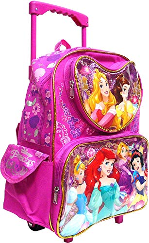 "Disney Princess 12"" Rolling Backpack (Featuring the 6 Princesses), Sunglasses -"