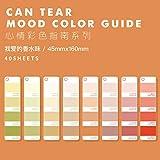 Can Tear Mood Color Guide Series Bullet Journal Pegatinas Decorativas Libro Scrapbooking Stick Etiqueta Diario Papelería Álbum Etiqueta