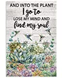 Wörterbuch Find My Soul Kolibri-Sukkulent, 20 x 30 cm,