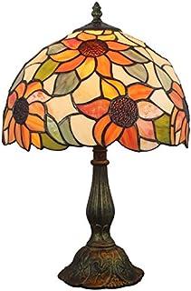 HomeLava Tiffany Lámpara de Mesa y Mesilla de Noche 12 pulgadas Luz Nocturna para Sala de estudio/Dormitorio/Bar/Hotel