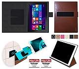 reboon Hülle für Dell Venue 10 Pro LTE Tasche Cover Case Bumper | Testsieger | Braun Leder