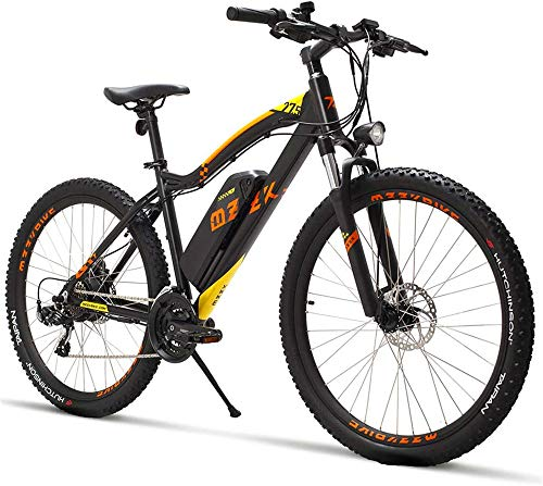 Electric Bike Electric Mountain Bike, Adult 27.5 Inch Mountain Electric Bike, 48V 13AH Lithium Battery 400W Electric Bikes, 21 Speed Aerospace Grade Aluminum Alloy Off-Road Electric Bicycle for the ju