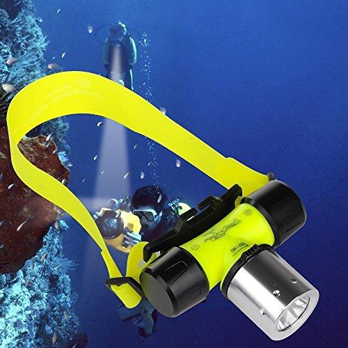 BIGMAC Linterna recargable Cree L2 impermeable para buceo, natación, senderismo, camping, caza, pesca, linterna de cabeza de 1200 lúmenes
