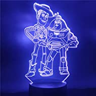 3D Illusion Lamp Led Night Light Disney Toy Story Buzz New Year Sheriff Woody Cartoon for Kid Touch ...