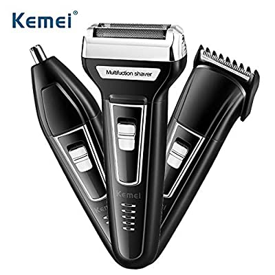 KEMEI Men's Multi Groomer Shaver Kit USB Rechargeable Electric All-in-one Trimmer Razor Shavers by KEMEI
