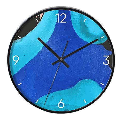 Pendules et horloges Horloges horloges murales Rondes Nordiques horloges métalliques en Fer forgé de Salon horloges murales horloges silencieuses horloges d'art de café horloges de Chambre d'enfant