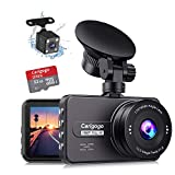 Dash Cam For Cars Front and Rear with SD Card Full HD 1080P