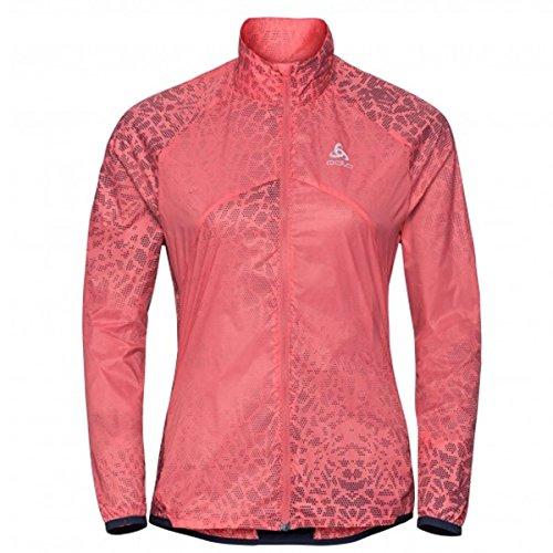 Odlo Damen Omnius Jacket Sportjacke, Mehrfarbig (Dubarry/AOP Ss18 70011), X-Small