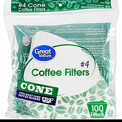 White Coffee Filters, 8/12-Cup Size
