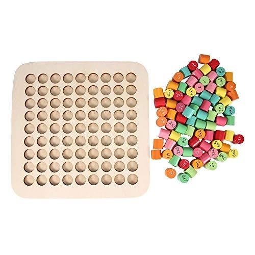 Tafel van vermenigvuldiging Wiskunde Educatief Houten Onderwijs Speelgoed Blokken Puzzel Vermenigvuldigingsspellen als wiskundige leermiddelen voor kinderen