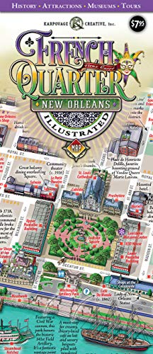 New Orleans French Quarter Illustrated Map