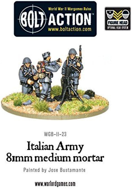 Medium Italian Army Mortar Team Miniatures by Bolt Action