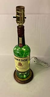 Jameson Liquor Lamp with Fairy Lights, Irish Whiskey Bottle Lamp