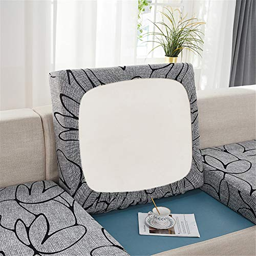 Sofa Seat Cushion Covers, Sofa Cushion Slipcovers Stretch with Elastic Band, Couch Cushion Covers Replacement for Individual Cushions (Gray,Chaise-seat)
